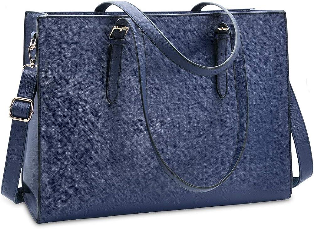 nubily, borsa a tracolla/mano per donna, in morbida pelle sintetica nb6602-blue