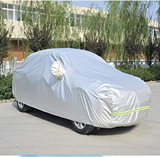 Full Car Cover, Universal Full Car Cover Waterproof Sun Shield Rain Hail Prevent Dust Proof Auto Cover Light Resistant Pro...