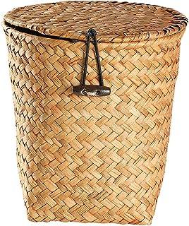 Waste paper bin سلة المهملات الجولة يمكن أن تنتج النفايات نفايات سلة النفايات يمكن مع غطاء الحمام مطابخ المنزل مكاتب نوم B...