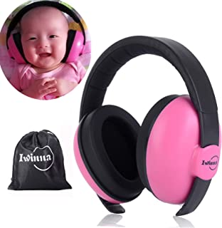 Baby Noise Canceling Headphones Adjustable Noise Protection Ear Muffs for Autism Newborn Infant Headphones for 3 Months to 2 Years, Pink