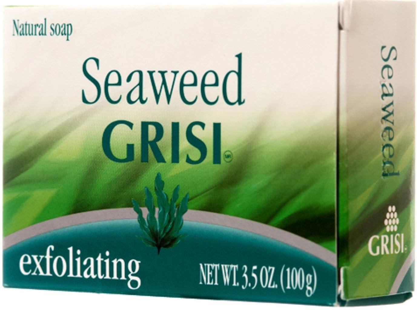 季節自動車いいねGrisi 天然海藻石鹸、3.5オズ 1パック