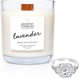 Lavender Candle with Ring Inside (Surprise Jewelry Valued at $15 to $5,000) Surprise Me