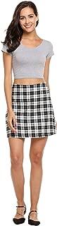 Women's Cotton Check Print A-Line Mini Skirt