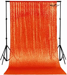 ShinyBeauty PHOTOBOOTH Backdrop Best Choice 5FT6FT Orange Sequin backdrops, Sequin Fabric, Wedding backdrops,Drape, Sequin Panels, Outdoor Wedding, Cotton Blen