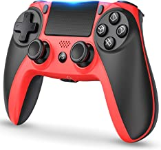 $53 » PS4 Controller Wireless Bluetooth Gamepad, Dual Vibration Game Controller with Touchpad for Playstation 4/Pro/Slim,Red