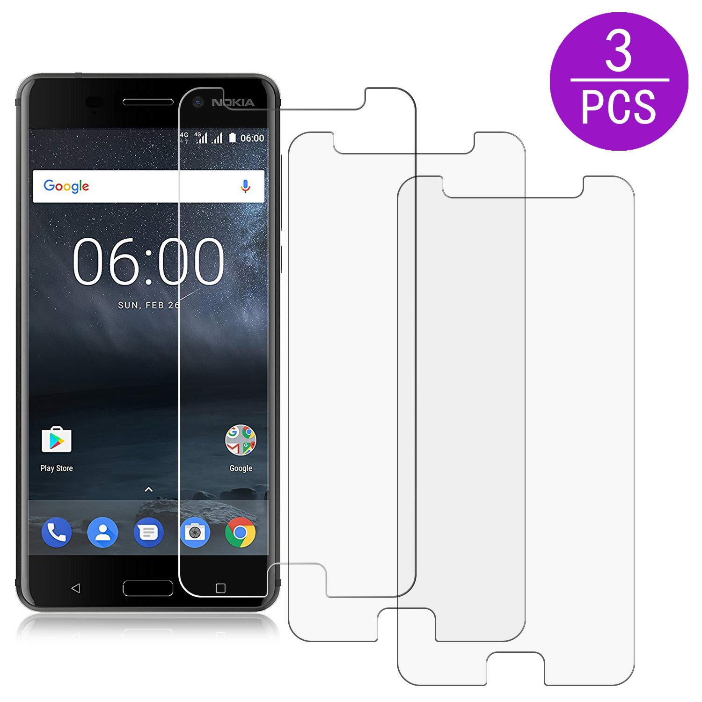 Beiuns [3 Unidades] Protector de Pantalla para Nokia 6,[Alta ...