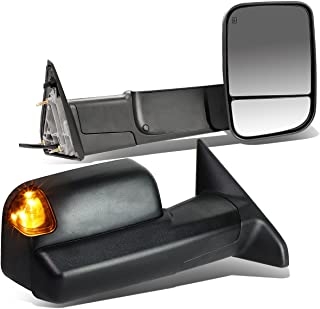 For Dodge RAM Pair of Black Powered + Heated Glass + Signal + Foldable Side Towing Mirrors