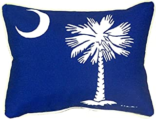 "Betsy Drake SN235 Palmetto Moon Pillow, 11"" x14"""