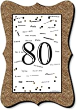 Adult 80th Birthday - Gold - Unique Alternative Guest Book - Birthday Party Signature Mat