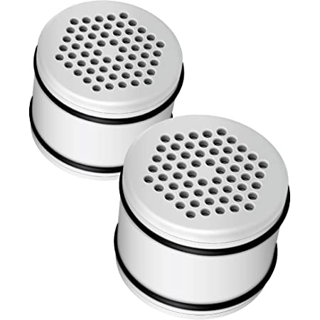AQUACREST WHR-140 Shower Head Water Filter, Replacement for Culligan WHR-140, WSH-C125, HSH-C135, ISH-100 Shower Water Filter Units, with Advanced KDF Filtration Material, Pack of 2