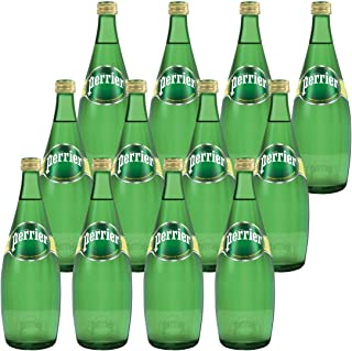 Perrier Sparkling Mineral Glass Bottle Water, 12 x 750 ml
