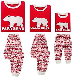 Christmas Family Holiday Bear Warm Printed Pajama Family Clothes Sets
