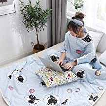 Lazy Quilt Blanket, TV Blanket with Sleeves, Multifunction Wearable Blanket, Warm Patchwork Quilts for Couch, Sofa Home Na...