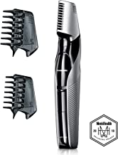 Panasonic Electric Body Hair Trimmer and Groomer for Men ER-GK60-S, Cordless, Wet/Dry with 3 Comb Attachments, Washable