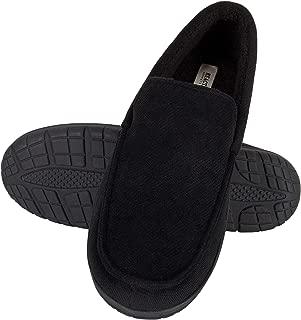 Men's Slipper Venetian Memory Foam Micro-Suede Indoor Outdoor Nonslip Sole
