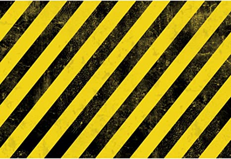 DORCEV 8x6ft Warning Line Wall Backdrop Under Construction Theme Birthday Party Photography Background Yellow and Black Stripes Wall Warning Mark Party Banner Child Adult Photo Studio Props