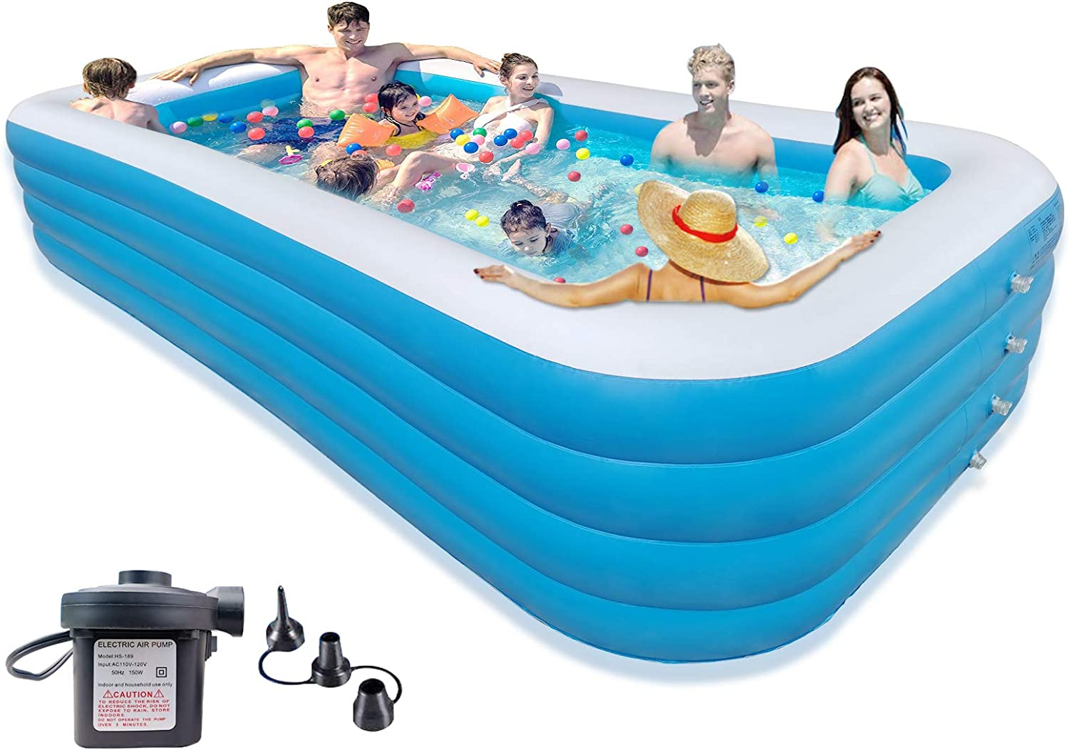 """SELASTASUAL 153"""" x 79"""" 30"""" Our shop most popular Big for Inflatable Limited time for free shipping Pool Swimming Ad"""