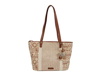 Sakroots Artist Circle Medium Satchel (Tobacco Batik World) Satchel Handbags