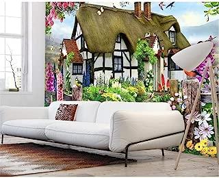 Feisenbz Custom Wallpapers Gorgeous Pastoral English Country Cottage Rose Garden Children S Room Tv Backdrop Mural 3D Wallpaper-200X140Cm