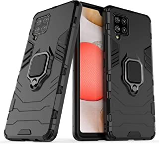 FanTing Case for Samsung Galaxy A42 5G, Rugged and shockproof,with mobile phone holder, Cover for Samsung Galaxy A42 5G-Black