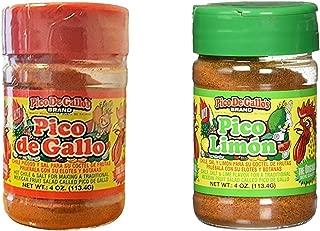 Pico De Gallo's Hot Chile and Salt & Pico Limon Seasoning Set , 4oz (Pack of 2)