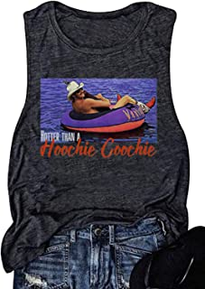 Hotter Than A Hoochie Coochie Country Music Tank Tops Vintage Graphic Summer Workout T Shirts for Women