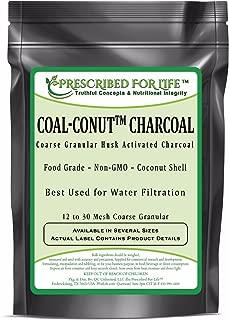 Coal-Conut (TM) - Coarse Granular Husk Activated Coconut Shell Charcoal - Food Grade (12/30 Mesh), 1 kg