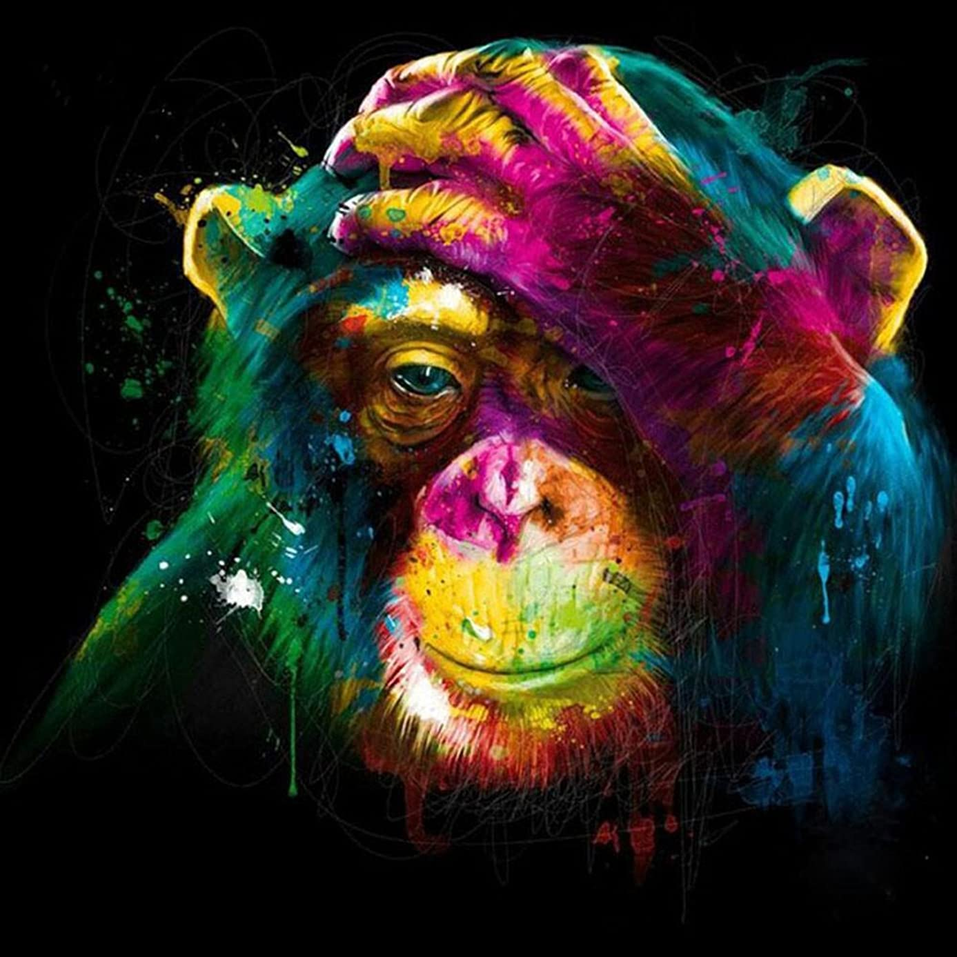 5D DIY Diamond Painting Rhinestone Pictures Of Crystals Embroidery Kits Arts, Crafts & Sewing Cross Stitch Home Decor Craft (Gorilla)