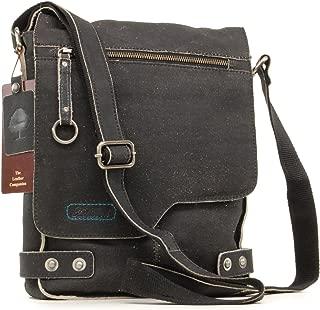 Ashwood Cross Body Bag - Kindle/iPad/Tablet Size - Small Shoulder/Messenger Bag - Distressed Leather - Camden 8352 - Black