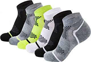 AIRSTROLL Low Cut Socks Men Women No Show Cushioned Performance Athletic Ankle Socks 6 Pack