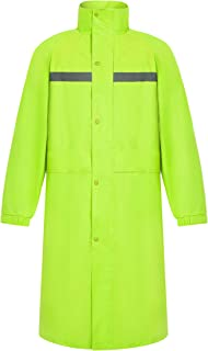 Safety Rain Coat Reflective - Hi Vis Long Rain Jacket for Men & Women (Extra Large)