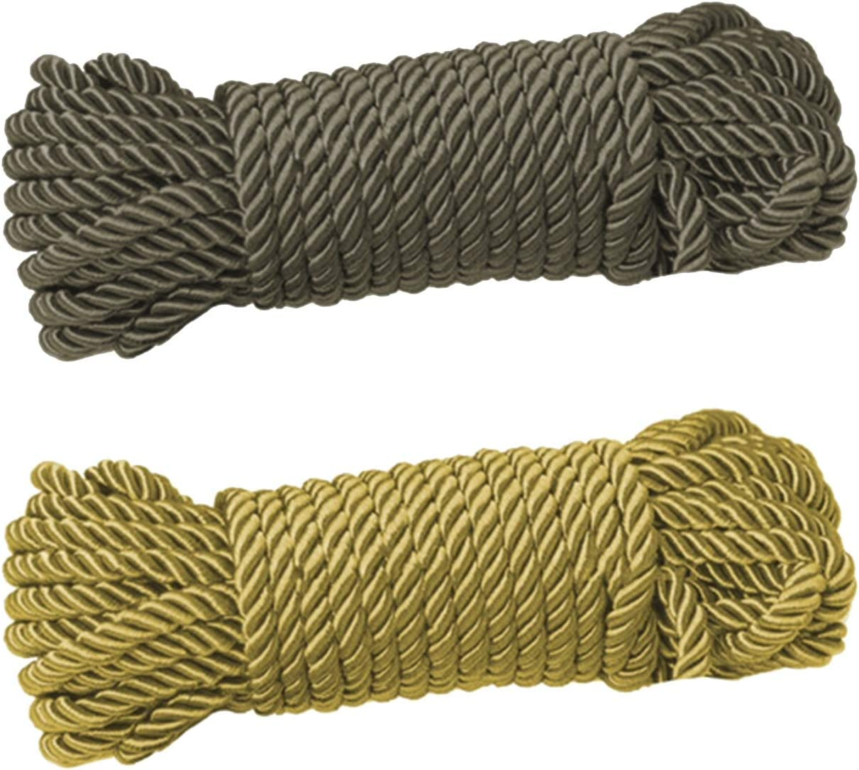 2 Pack Soft Max 60% OFF Max 45% OFF Silk Rope Solid Durable Ropes an 10m Twisted Braided