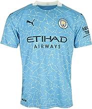 PUMA heren t-shirt MCFC HOME Shirt Replica SS with Sponsor Logo