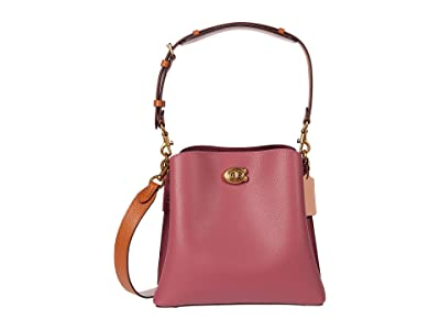 COACH Color-Block Leather Willow Bucket 24