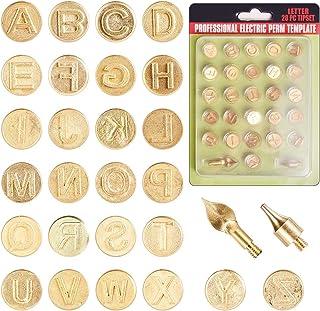 GORGECRAFT Lot de 28 pointes de gravure en fer avec lettres de l'alphabet pour gravure et gaufrage, couleur or mat