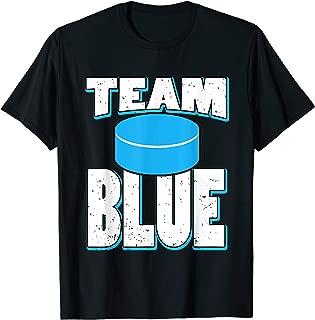 TEAM BLUE Ice Hockey Gender Reveal T-Shirt | Parents Gift