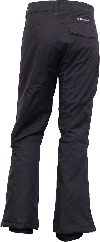 Alpine Swiss Mens Waterproof Ski Snowboarding Pants Insulated Winter Snow Pants