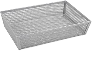 Copco 5234758 Non-Skid Pantry Cabinet 2-Tier Lazy Susan Turntable, 12-Inch, White/Aqua Single Compartment, 6x9-Inch