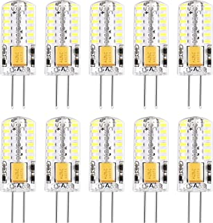 12V Led Bulb G4 Base Fixture Daylight White 6000K Equivalent to 20~25Watt Halogen Led Replacement for Landscape Lighting/Rv/Under Cabinet/Recessed Lamp (10pack)