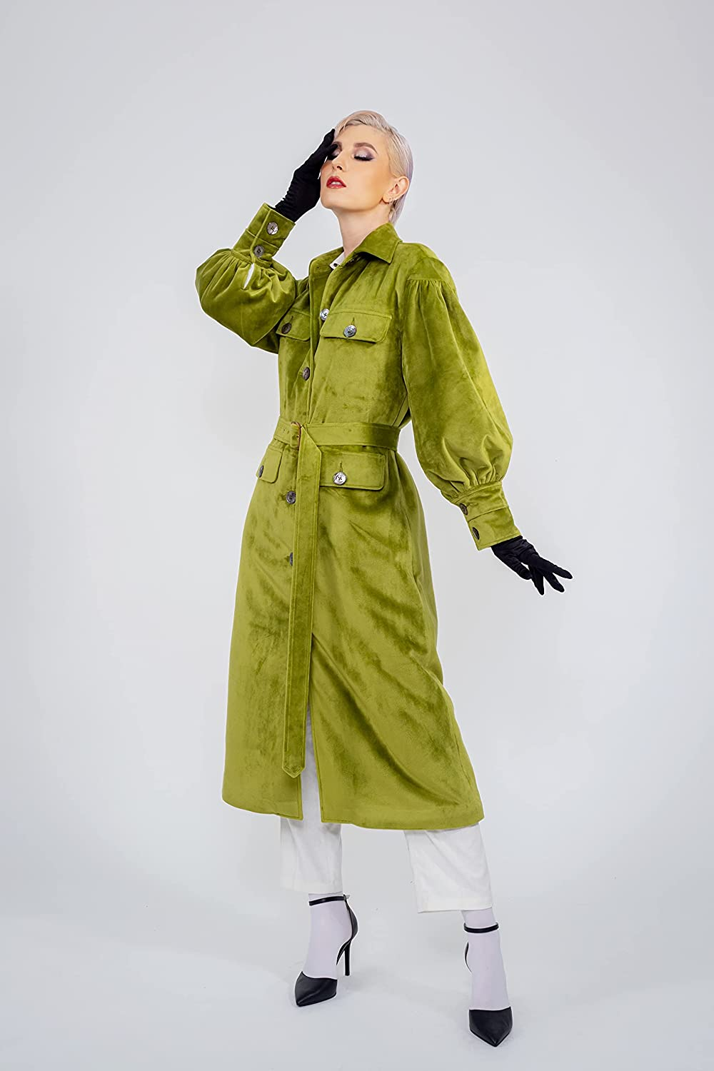 Women - Safety and trust Finally popular brand Fashion Faux Fur Trenchcoat from N'guyen LIBBY Yvette Pa