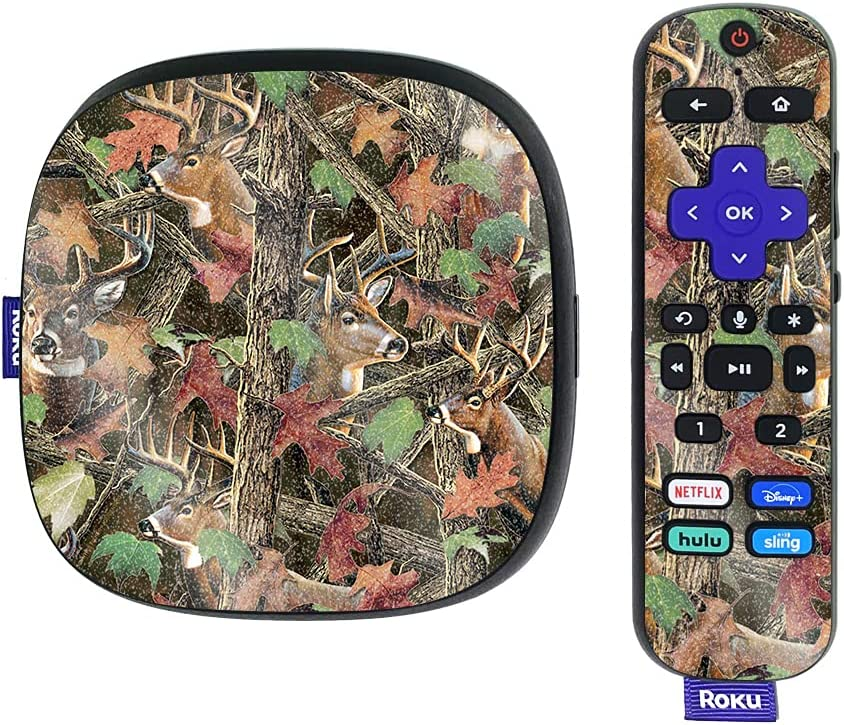 MightySkins Glossy Glitter Skin Compatible with Roku Ultra HDR 4K Streaming Media Player (2020) - Buck Camo | Protective, Durable High-Gloss Glitter Finish | Easy to Apply | Made in The USA