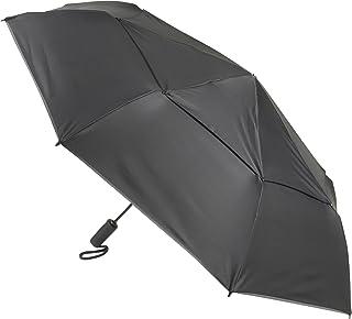 TUMI - Auto Close Umbrella - Windproof Compact Travel Umbrella - Large - Black