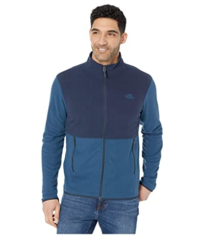 The North Face TKA Glacier Full Zip Jacket (Blue Wing Teal/Urban Navy) Men
