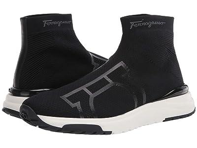Salvatore Ferragamo Soft Sneaker (Black) Men