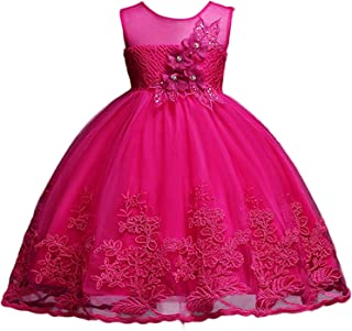 Surprise S Summer Girl Dress for Wedding Birthday Kids Party Wear Toddler Ball Gown Baptism Clothes Girls 10 Yrs