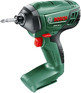 Bosch 603980301 PDR 18 LI Cordless Impact Driver (Without Battery and Charger), Green, 42.3 cm*33.4 cm*12.1 cm