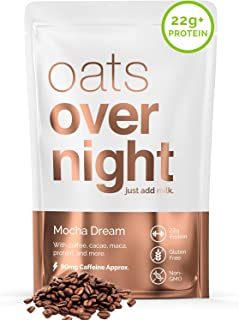 Oats Overnight - Mocha Dream (8 Pack) High Protein, Low Sugar Breakfast with Coffee - Gluten Free, High Fiber, Non GMO Oat...