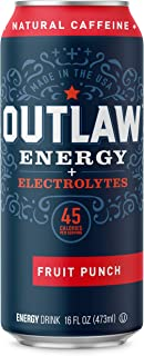 Outlaw Energy Plus Electrolytes - Fruit Punch - 16 Ounce Cans / 12 Pack Case
