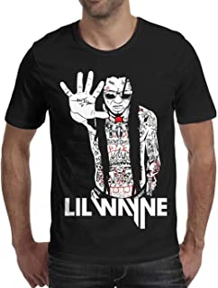 STONSTAIN Lil-Wayne-Poster-Online-India- Cotton Short Sleeved Funny T-Shirts for Men