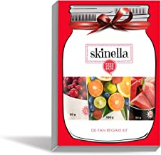 Skinella Detan Regime Juicy Fresh De-Tan Face Mask 100 Gram, Cranberry Skin Lightening Crème 50 Gram And Watermelon Sun Screen - Non Greasy (Spf 25+) 50 Gram